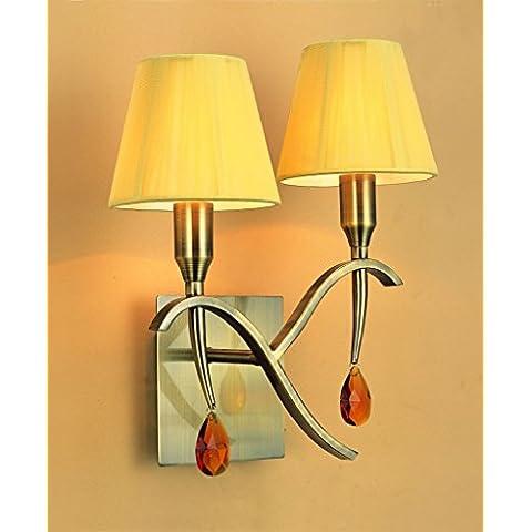 Mantra iluminazion aplique 2L Viena–Shade–-Antique Brass 2x max 40W e14