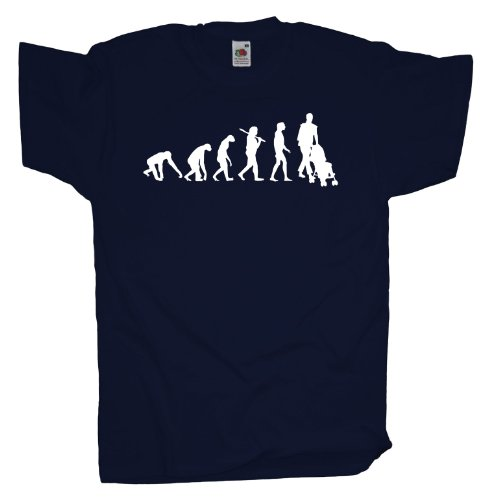 Ma2ca - Evolution - Eltern Kinderwagen T-Shirt Navy