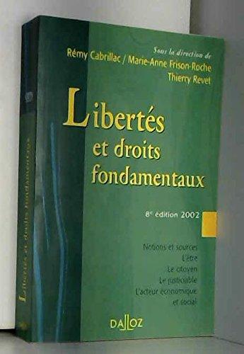 Libertés et Droits fondamentaux, 8e édition par Cabrillac