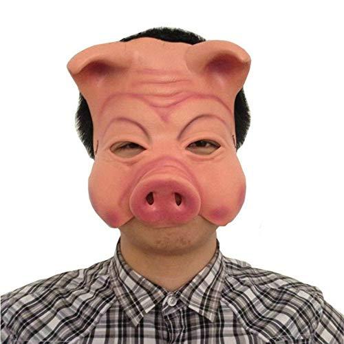 Kostüm Billig Sexy Tier - WSJMJTM Heiße Schwein Kopf Maske Gruselig Tier Halloween Party Maske Prop Latex Party Unisex Halloween Holiday Party Zubehör Werkzeuge Billig