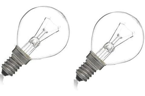 2 x 40W Classic P45 Mini Globes Clear Round Light