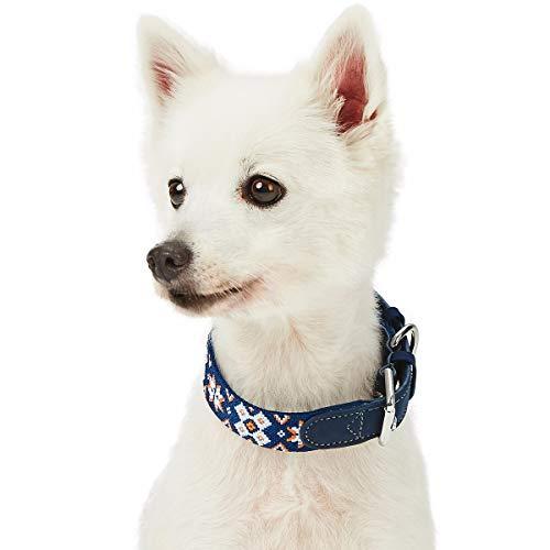Blueberry Pet Hundehalsband, Polyestergewebe, weiches Echtleder, Priyanka Chopra's Hochzeitsliste, passende Leine separat erhältlich, 1
