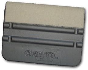 ORAFOL Kunststoff Schaber mit Filz 10 x 7 cm