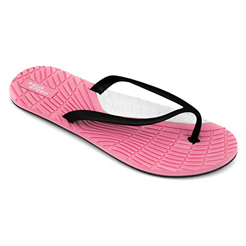 AQUA-SPEED Bahama donna scarpe da spiaggia/infradito/spiaggia scarpe Multicolore - Pink/Schwarz/Weiß