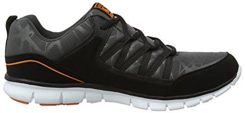 Gola Luna, Chaussures de Fitness Homme Noir (Black/charcoal/orange)