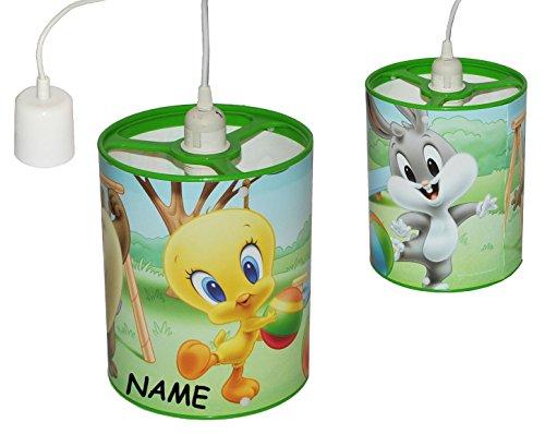 e / Hängelampe - Looney Tunes Baby incl. Namen - 24 cm hoch - für Kinder Kinderzimmer Kinderlampe Leuchte - Baby Mädchen Jungen - Tweety Bugs Bunny .. ()