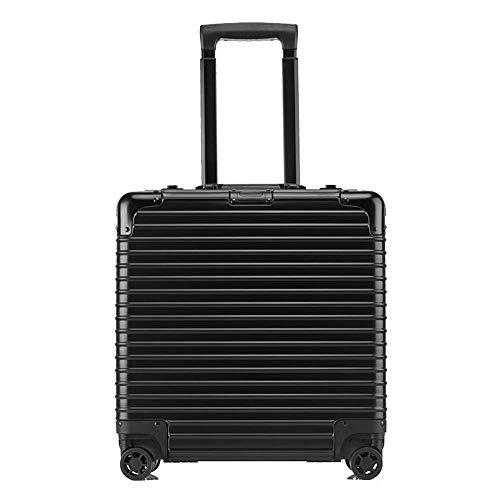 YUNY 18 \\ABS Hard Case wasserdichtes Gepäck 4-Rad rotierendes Gepäck unisex (schwarz, klein)-black
