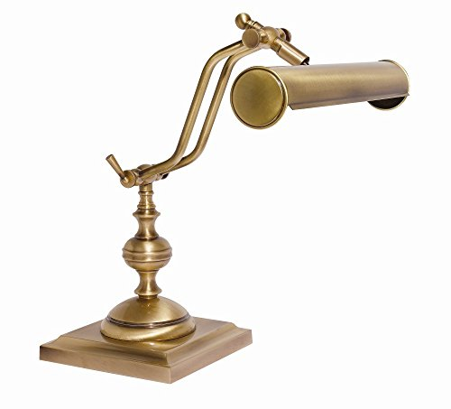 Tischleuchte Antik Bronze Echt-Messing Verstellbar E14 Handarbeit Premium Schreibtischlampe Tischlampe Klavier - Messing Antik Klavier