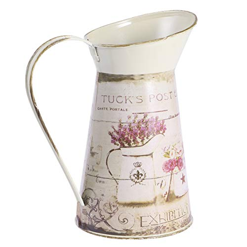 Vosarea Vintage Krug Vase Stil American Shabby Chic aus Metall Blume Krug Vase zur Dekoration