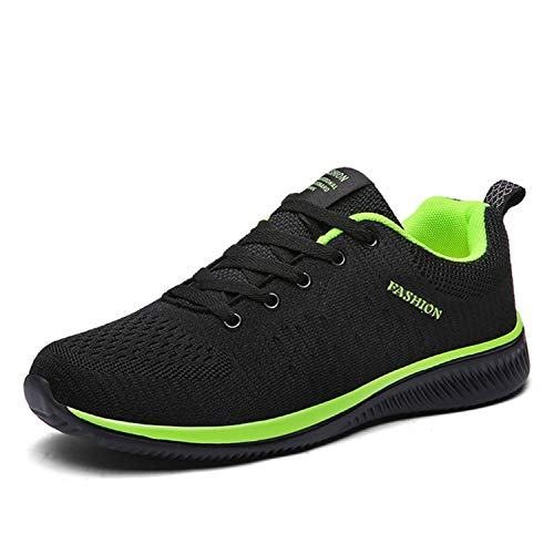 Men's Brand Casual Shoes Breathable Soft Sneakers Mesh Summer Lightweight Casual Shoes Krasovki Zapatos Hombre Green 10 Cushe Cushe Slipper