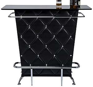 bar lady rock black extravaganter bartisch bartresen mit aufwendiger rautensteppung bartheke. Black Bedroom Furniture Sets. Home Design Ideas