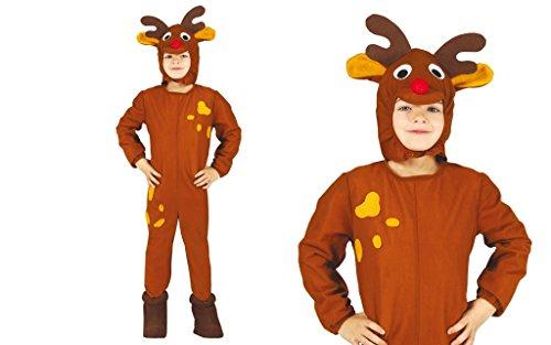 Rudolph Kinder Kostüm - Guirma Rentier-Kostüm Kind 3-12 Jahre (nach Wahl)
