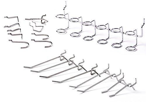 Lot de 50 crochets d'étagères assortis Presa PBH50A - En métal - Pour panneaux perforés