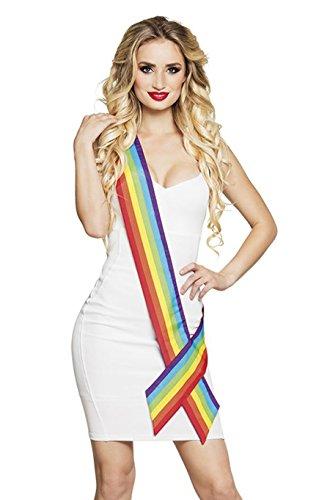 Boland 44726 Schärpe Regenbogen, One - Miss Regenbogen Kostüm