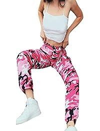 8d5fb11c6 Logobeing Pantalones Vaqueros de Mujer Pantalones Harem Fitness Yoga Deporte  Jeans Pantalones de Camuflaje de Mujer