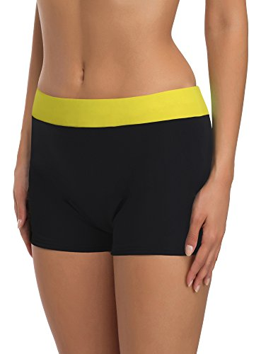 Merry Style Shorts Bañadores Ropa Deportiva Trajes de Baño Mujer Modelo S1R1 Negro9240/Amarilis...