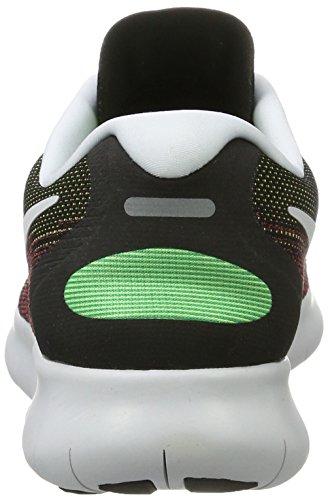 Nike Herren Free Rn 2017 Laufschuhe, Mehrfarbig (Black/Black-Hot Punch-Chlorine Blue-Volt), 39 EU -