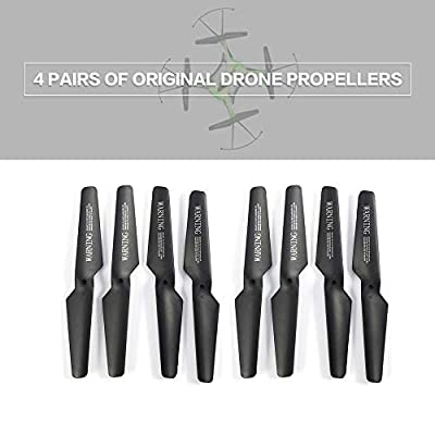 leonBonnie 4 Pairs of Original Mini Drone Propellers Parts Portable CW/CCW Propellers Compatible With JJR/C H31 GoolRC T6 RC Quadcopter