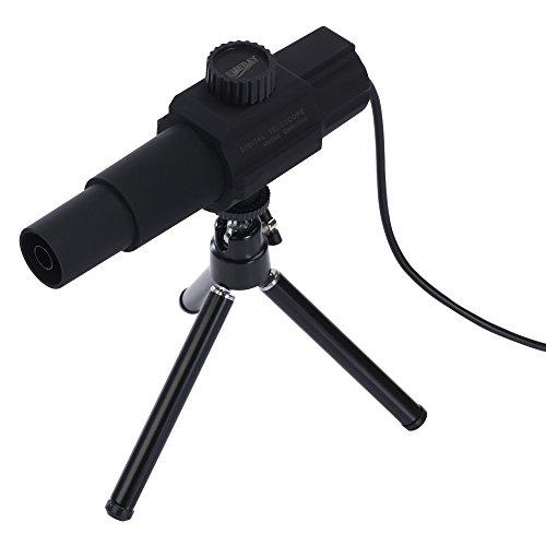 EMEBAY - USB Télescope HD 2 MP Appareil photo numérique SMART Télescope Monoculaire Focus réglable pour 2 km Montre moniteur de distance moniteur Système avec trépied portable W110 - Type d'utilisation quotidienne -