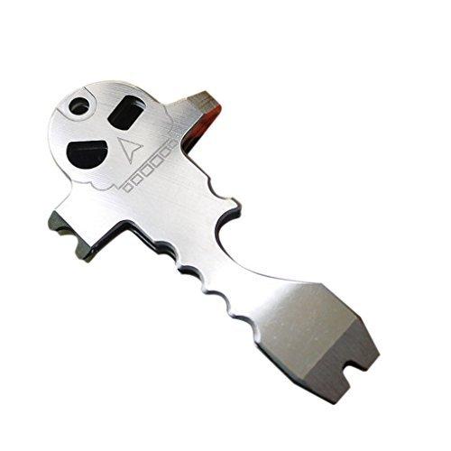 dabbie Squelette Gadget multifonction extérieur Porte-clés multifonctions en acier inoxydable outil