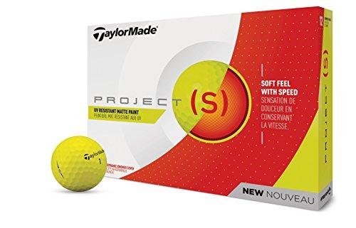 TaylorMade TM18Project (S) matteyellowdz Project (S) Golf Ball Matt Gelb (Dutzend) (Sport-golf-bälle)