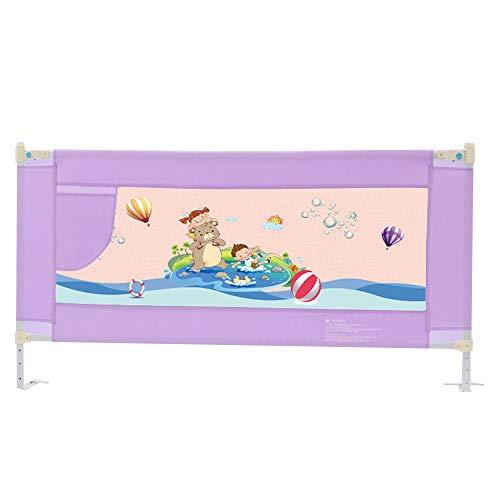 Griglia per letto extra alta grigia per bambini piccoli, pieghevole per passeggino per bambini, altezza 82 cm (colore : purple, dimensioni : 200cm)
