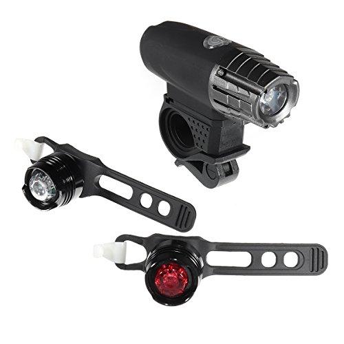 LaDicha Bikight 500Lm USB Rechargeable LED Vélo Bright Phare Avant Et 2 Feux Arrière Ensemble