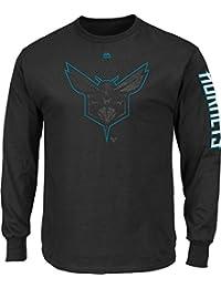 "Charlotte Hornets Majestic NBA ""Easy Choice"" Men's Long Sleeve Black T-Shirt Chemise"