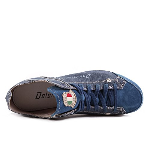 Dolomite Cinquantaquattro Travel Canvas Blue Canapa Bleu