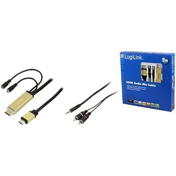 LogiLink 2m HDMI Kabel mit zusätzlichem Stereo-Ausgang