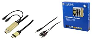 Logilink 2m HDMI Cable with Additional Stereo Output