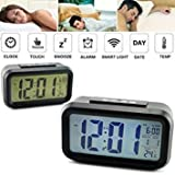 "Supermall 2018 New Imported LED Alarm Clock w/ Date Display Repeating Snooze and Sensor Light + Night Light ""When you clap your hand clock will speak English language current time'' Best Quality"