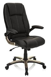 hjh OFFICE 621600 silla de oficina PALATIN piel sintética negro, muy cómodo, buen acholchado, con apoyabrazos plegables, respaldo inclinable y bloqueable, estable, fácil de limpiar, buen acabado, sillón oficina (B004G9AF4W) | Amazon Products
