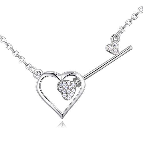 ZhongYi Herzstück der wichtigsten Kristall Anhänger Halskette (Herzstück Kristalle)