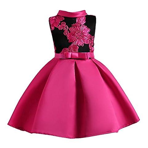 Robe Cocktail Rose - YuanDian Fille Enfant Robe De Ceremonie Fleurs