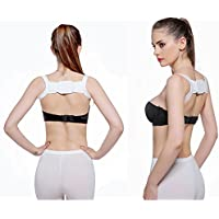 SM SunniMix Adults Corrector De Postura Belt Back Shoulder Brace Shaper Soporte Blanco