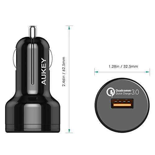 41QXt5zyehL - [Amazon.de] AUKEY Quick Charge 3.0 Kfz Ladegerät 24W für iPhone/iPad nur 4,99€ statt 11,99€ *PRIME*