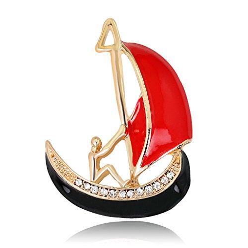Mann Kostüm Boot - Kofun Brosche, Segelboot Brosche Pins Für Frauen Männer Schmuck Kostüm Geschenke Emaille Boot Strass
