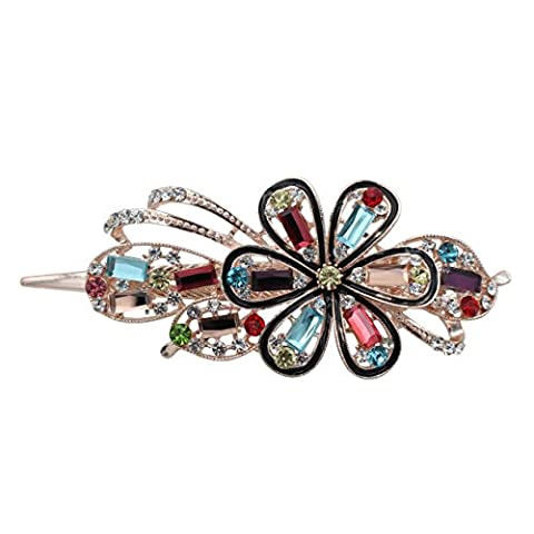 Totoro – Forget Me Not Always Drill Rhinestone Crystal Hair Clip/Hair Clip/Claw Large Size --- Multicolor