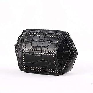 41QXv8VFuwL. SS324  - Primera capa Bolso de embrague de cuero Bolso bandolera de la moda Bolso de las mujeres Remache Bolso de Shell decorativo
