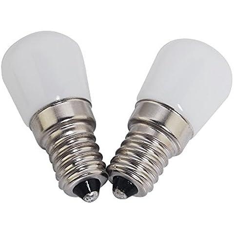 THG Pack de 2 E14 LED bulbo 1.5W COB Bright LED Bombillas Blanco c¨¢lido AC200-240V