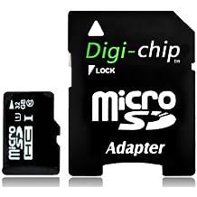 Digi-Chip 32 GO CLASS 10 UHS-1 MICRO-SD CARTE MÉMOIRE POUR Sony Xperia C, M, M2, L, SP, E, E1,V, J, T, T LTE et Xperia TX