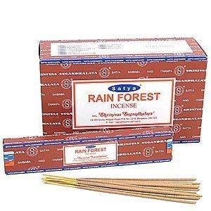 Satya nag champa - bastoncini di incenso, aroma: foresta pluviale, confezione da 12 pezzi x 15 g