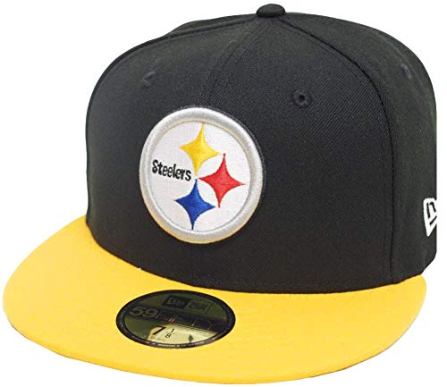 New Era Pittsburgh Steelers Black Yellow 2 Tone On Field NFL Cap 59fifty 5950 Fitted Limited Edition Two Tone Fitted Cap