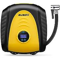 SUAOKI Compresor de Aire Digital Portátil 150PSI, 12V Inflador de neumáticos, Presión Apagado automático, medición de presión, 3m Cable, 3 Boquilla y adaptadores multiusos y pantalla LED digital