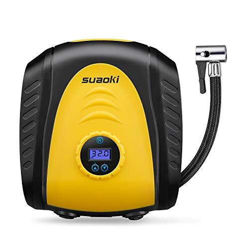 SUAOKI Compresor de Aire Digital Portátil 150PSI, 12V Inflador de neumáticos, Presión...