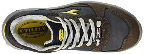 Diadora Run High S3, Scarpe da Lavoro Unisex – Adulto Marrone (Marrone Scuro/Blu Maiolica)