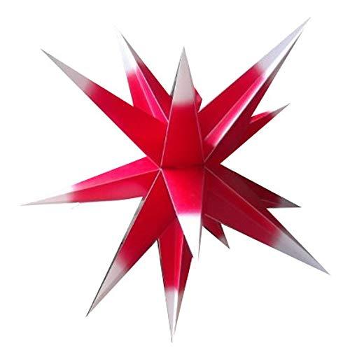 Étoile de noël lumineuse à lED pour l'étoile de avant außenstern 55 cm avec câble de 4 m et lED basse consommation philips outdoorstern, Plastique, rouge/blanc, ca. 55 cm