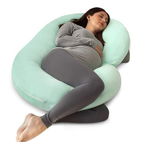 PharMeDoc Schwangerschaftskissen Mit Jersey-Bezug, C-Förmiges Ganzkörperkissen Pregnancy Pillow with Jersey Cover, C Shaped Full Body Pillow