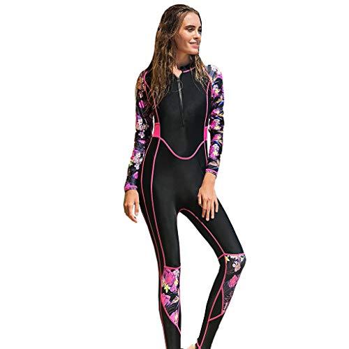 EUCoo_ Wetsuit Damen Siamese Diving Suit Tights Tauchen Schnorcheln Senior Brand Surfwear(Pink, XL)